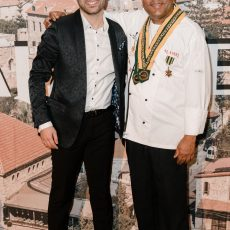 Al Aseel Bankstown Opening Night - Chef Prakash with GM Ahmad Harb
